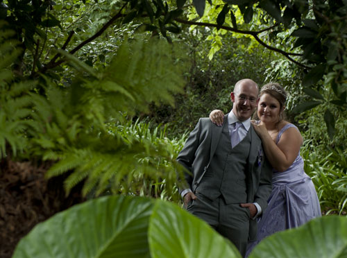 Garden wedding photo of Bram Leigh, Melbourne