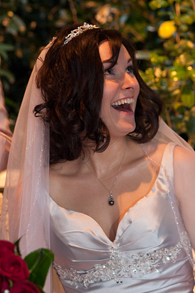 Wedding Photography bram Leigh Melbourne, showing a bride laughing