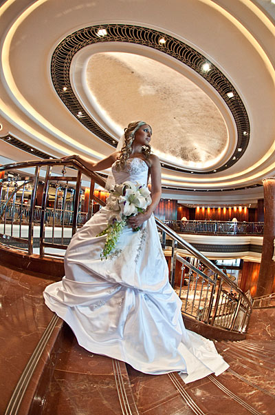 Wedding Photography Melbourne Park Hyatt Hotel, with bride and ceiling dome architecture in the background.