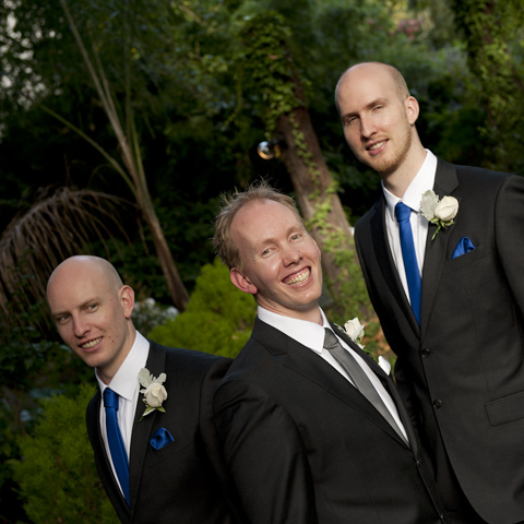 Wedding Photography of groom with groomsmen, at bram leigh Melbourne