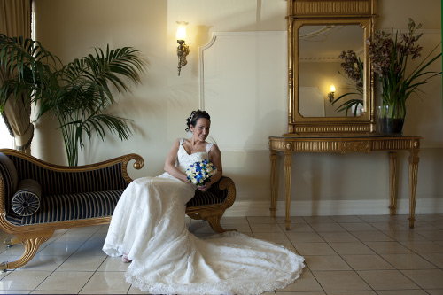 bride on lounge, clarion hotel
