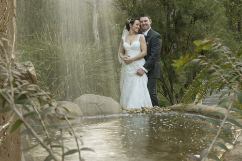 wedding photo, potters waterfall warrandyte