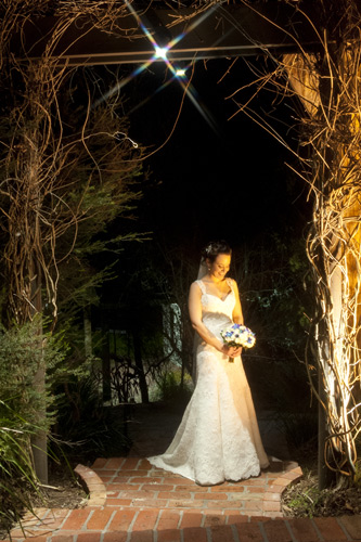garden night wedding photo potters