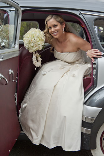bride arrives for wedding, Forst Edge