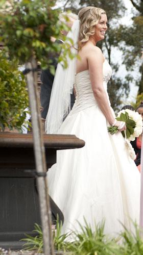 natural bridal portrait taken at ceremony