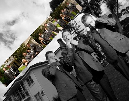 Treacy centre photo of groom and groomsmen