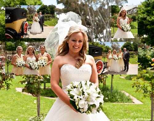 Treacy wedding portrait of bride arriving
