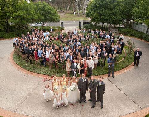 Full wedding party at Treacy Centre Melbourne