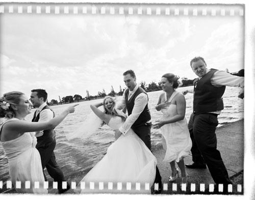 Fun bridal party, Melbourne wedding