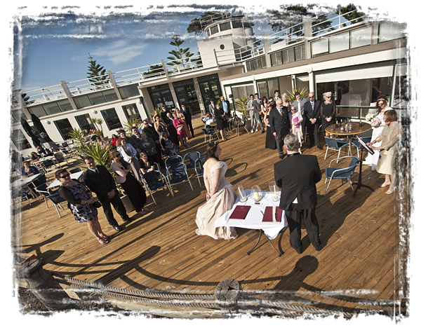 high viewpoint photo of wedding ceremony